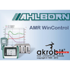 AMR Win Control Software for data acquisition and measured data processing