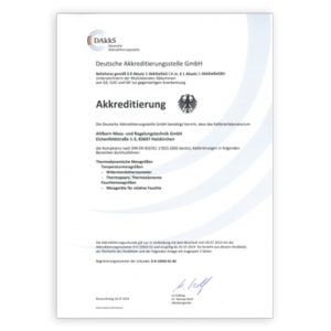 Certificates for sensors and measuring instruments
