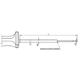 NiCr-Ni sensor with handle FTA 150 LxxxxH Sensor